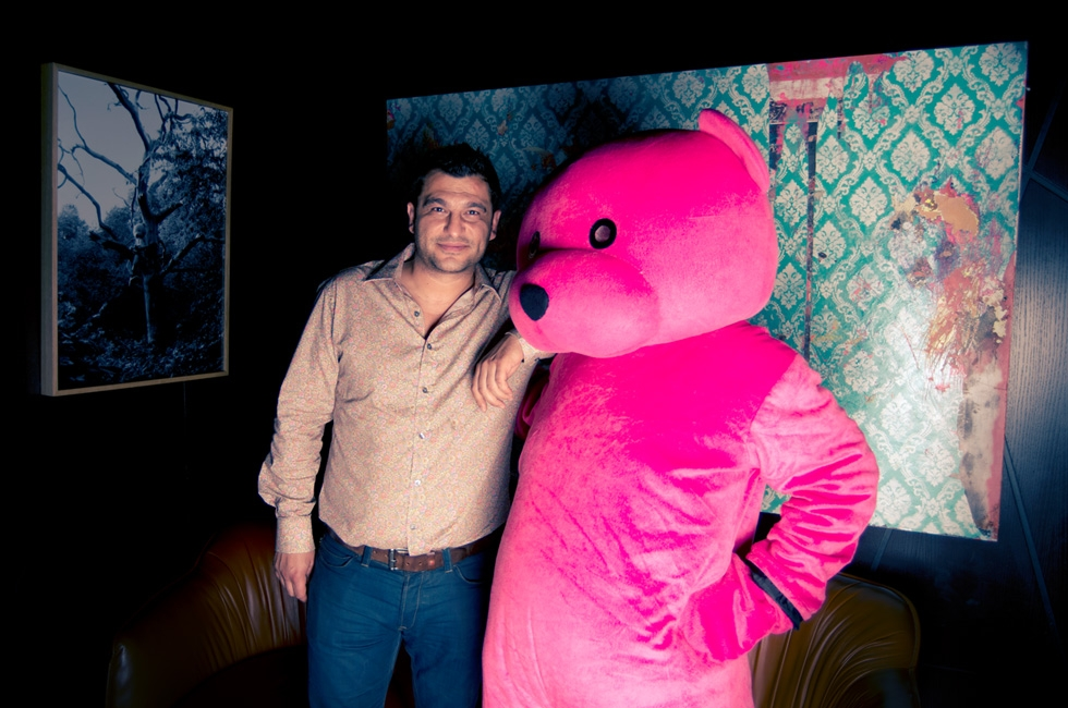 The Pink Bear meets the man himself, George Yaneff.