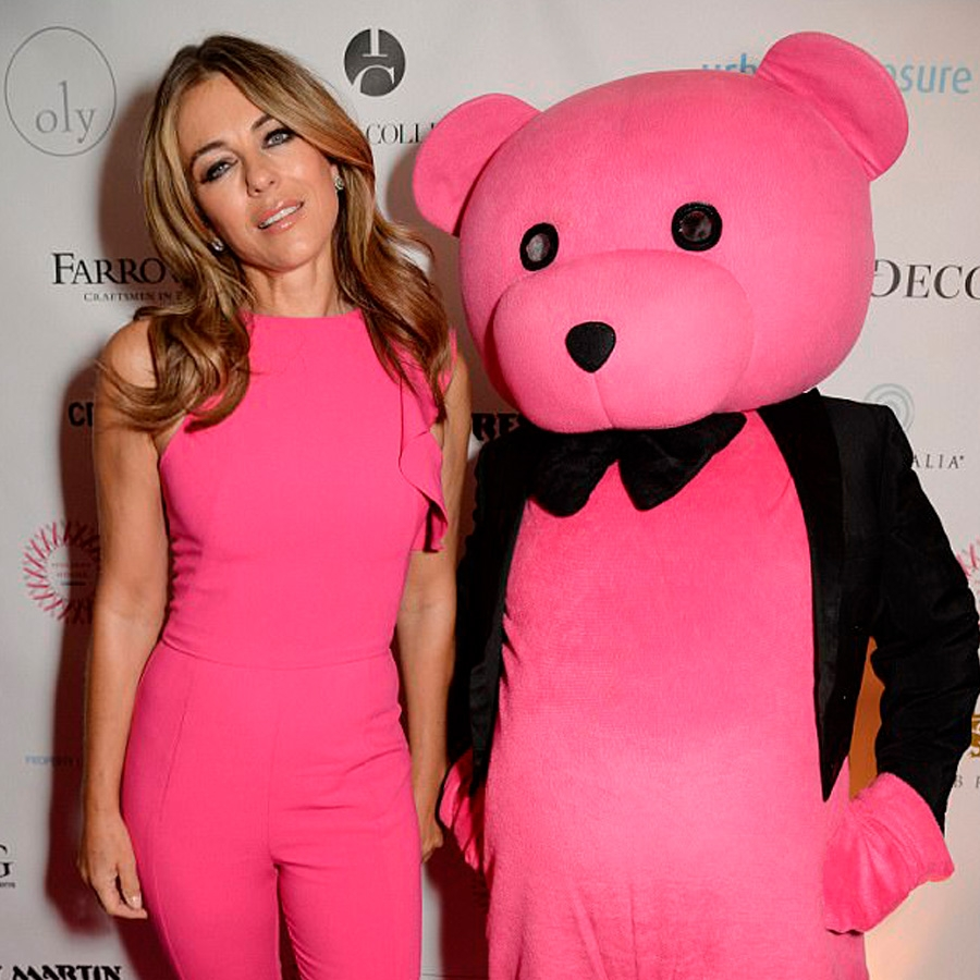 Elizabeth Hurley and The Pink Bear