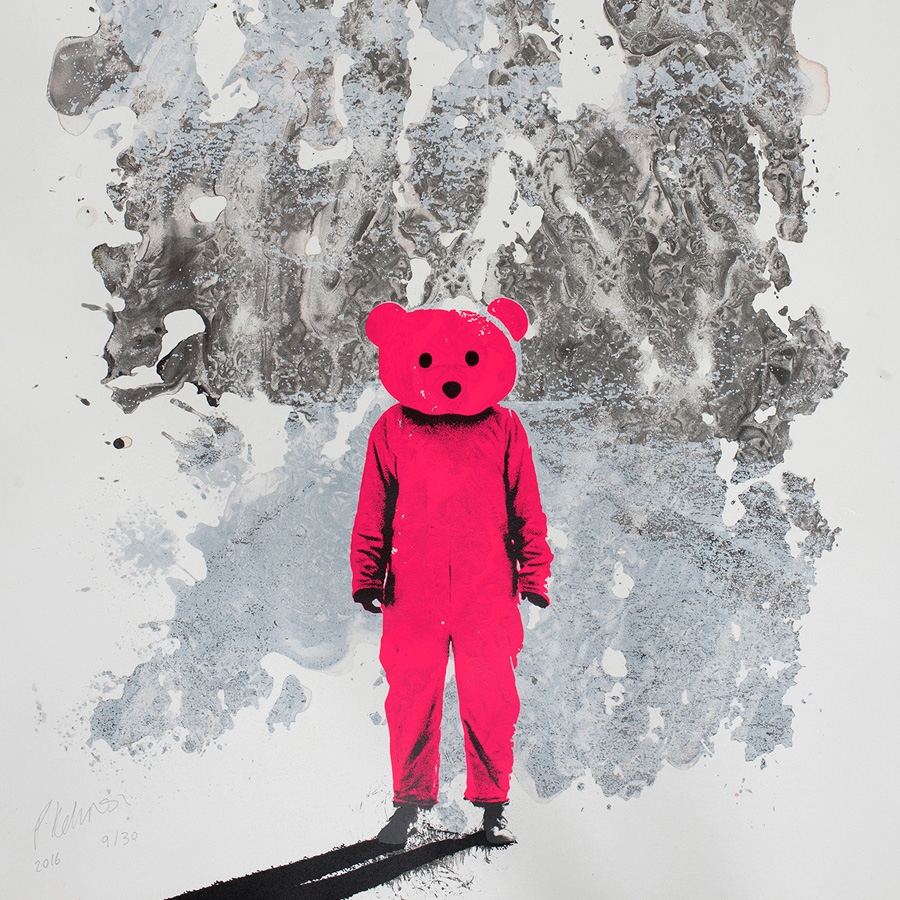 Pink Bear at OXO tower